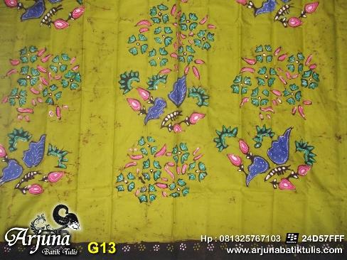 batik tulis arjuna kain G13